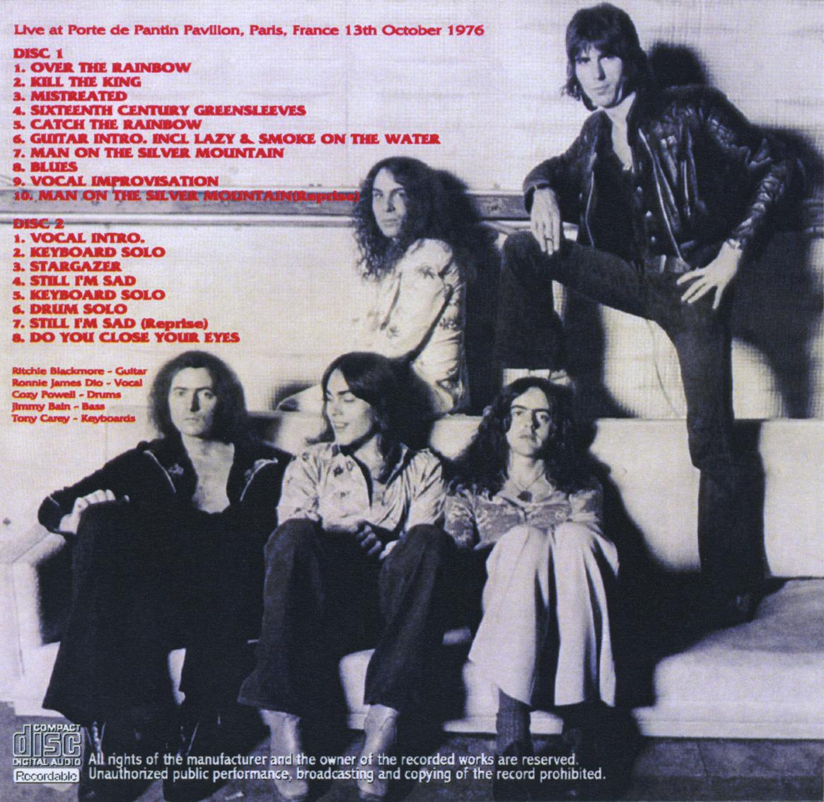 1976-10-14 ( jeudi 14 octobre 1976 ) Rainbow (AC/DC), Cirque Royal